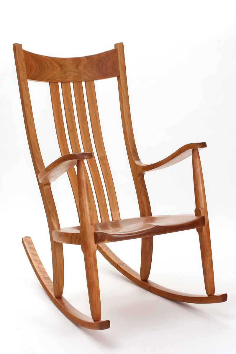 Cherry Rocking Chairs Comfortable Handmade Heirloom