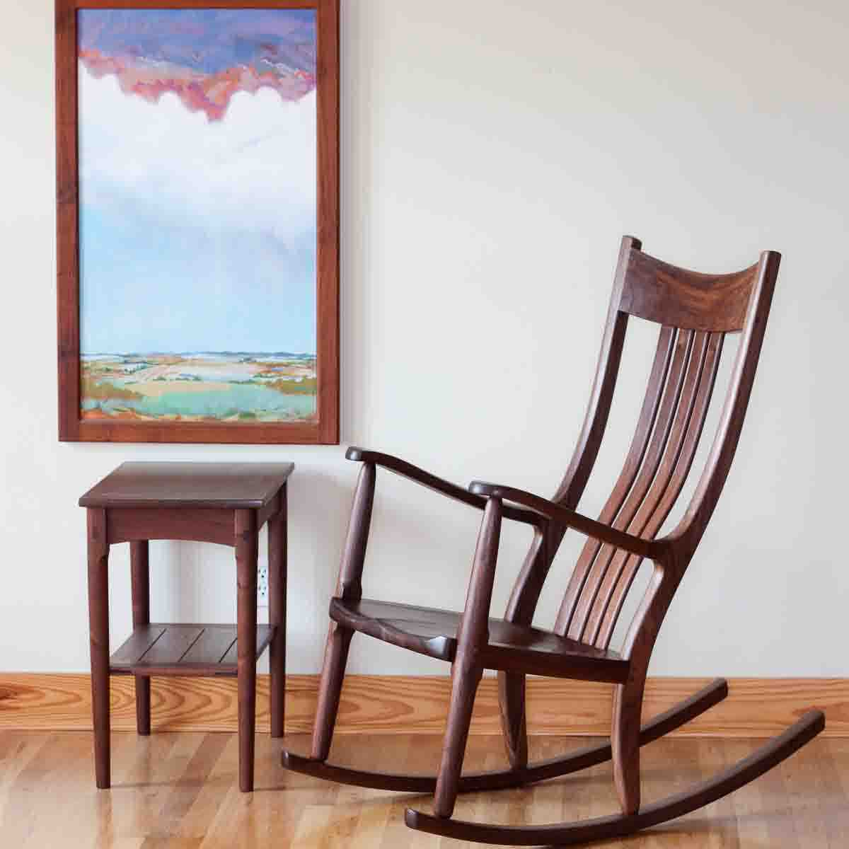 Walnut Rocking Chairs Comfortable Handmade Heirloom