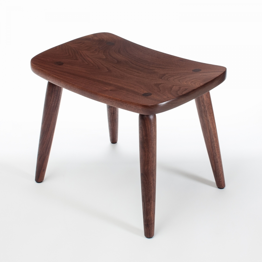walnut footstool