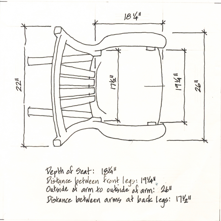 Dimensions Of Rocking Chairs Made By Gary Weeks And Company
