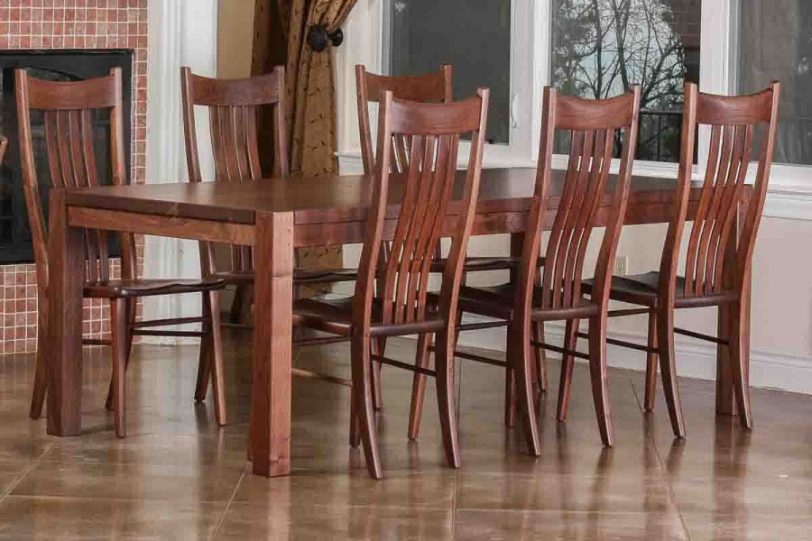 Steele table and Wilson Chairs