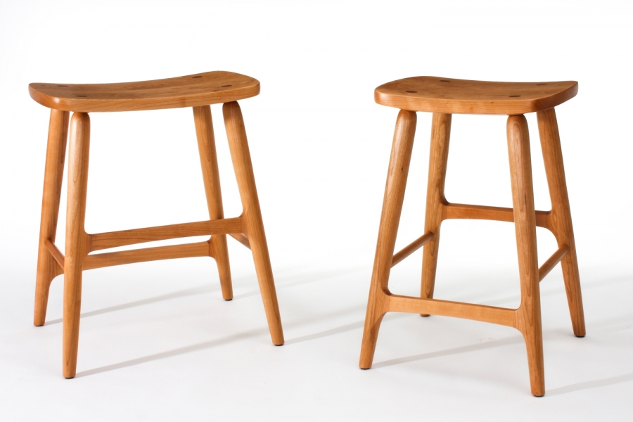 "20"" Width Barstool (left) and 16 1/2"" Width Barstool (right)"
