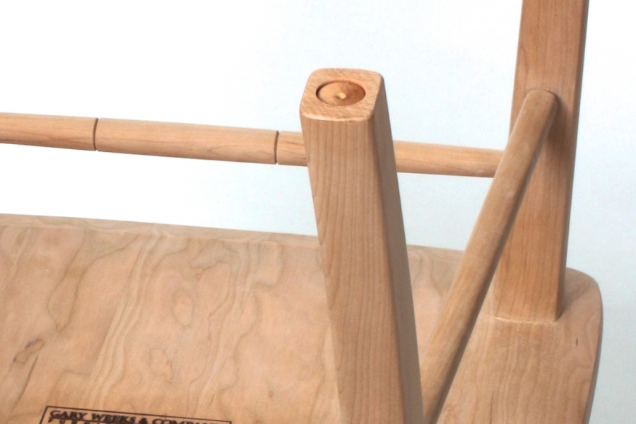 chair leg recess for felt glide