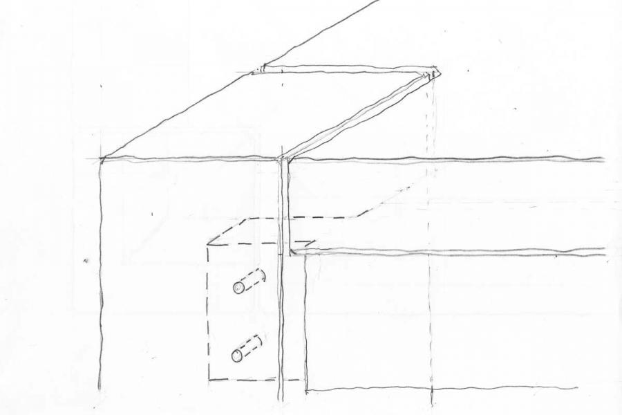 Steele table corner detail drawing
