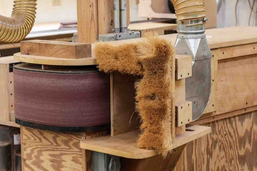 pump sander dust collection hood