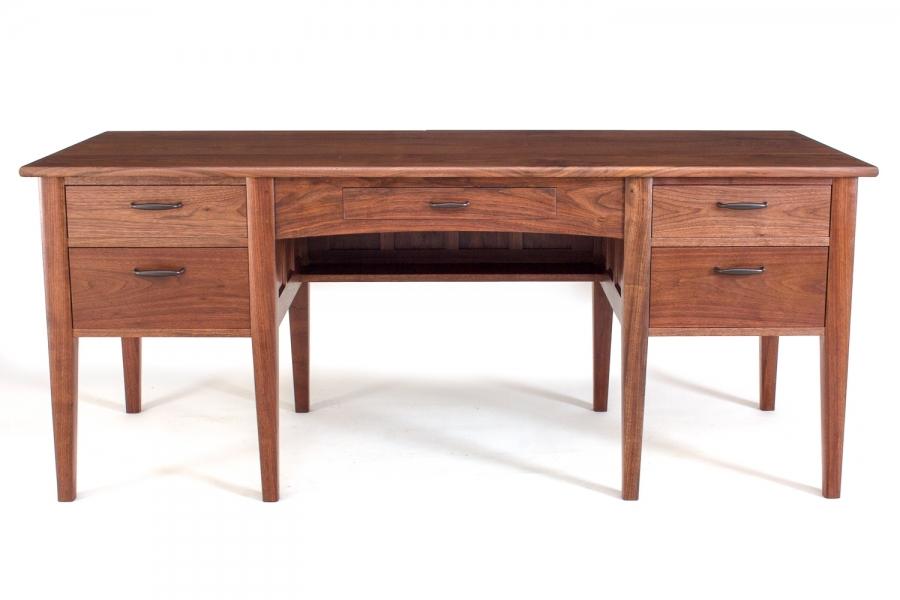 """walnut office desk, 32"""" x 72"""""""