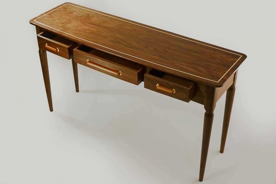 buffet table, stringing and eschutcheon inlays