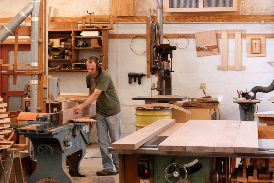 Austin jointing table top boards