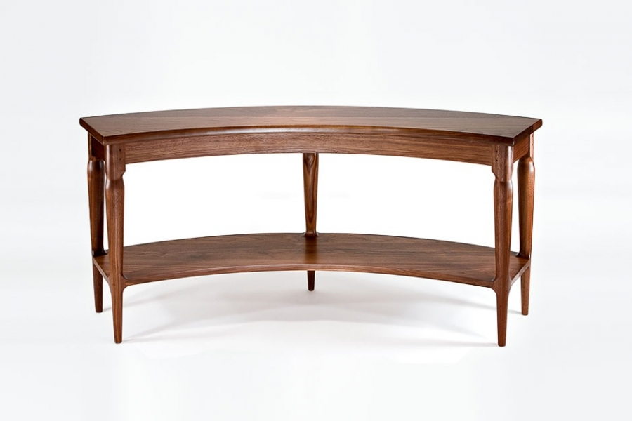 table to fit a curved entry