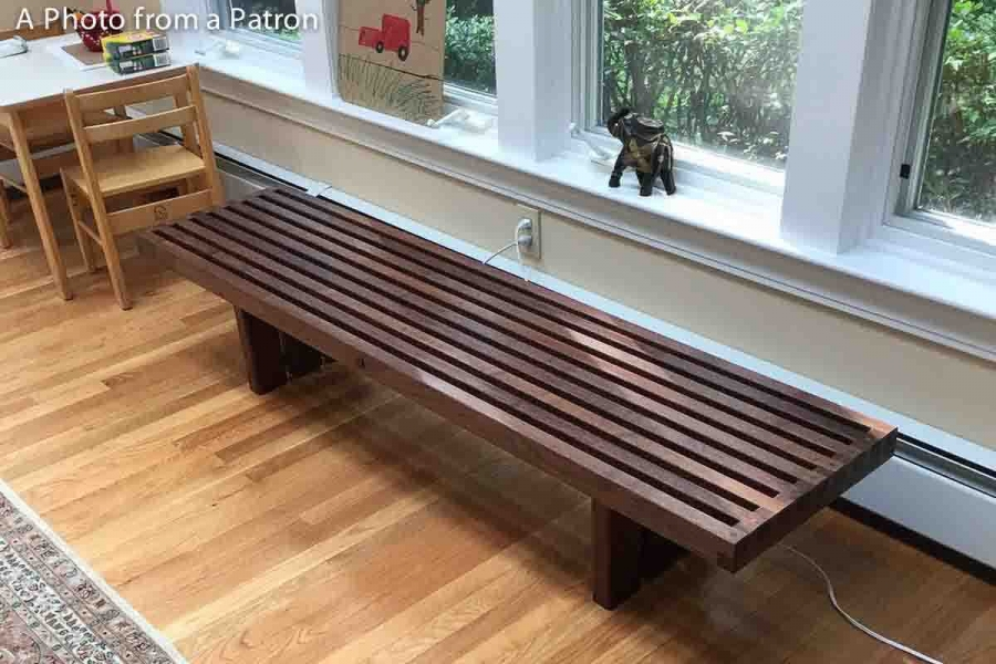 plant bench by the window