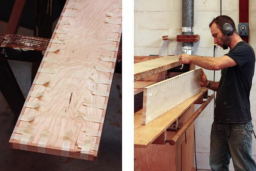 plywood edgebanding and sanding