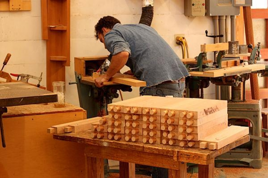 Will cutting tenons on dining chair front legs