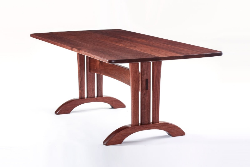 walnut Mitchell trestle table