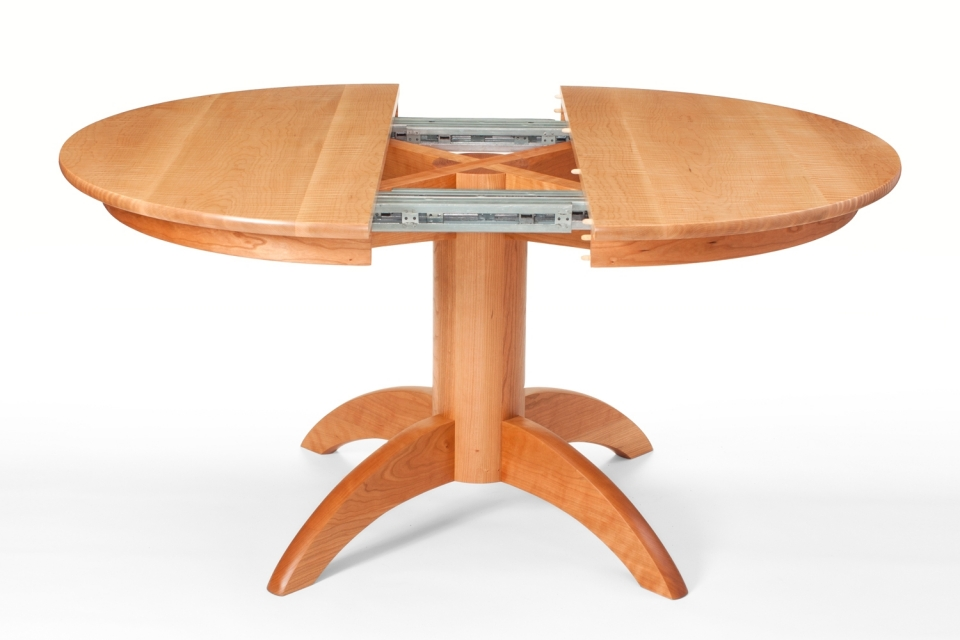 Mendelsohn Pedestal Table, open for leaf