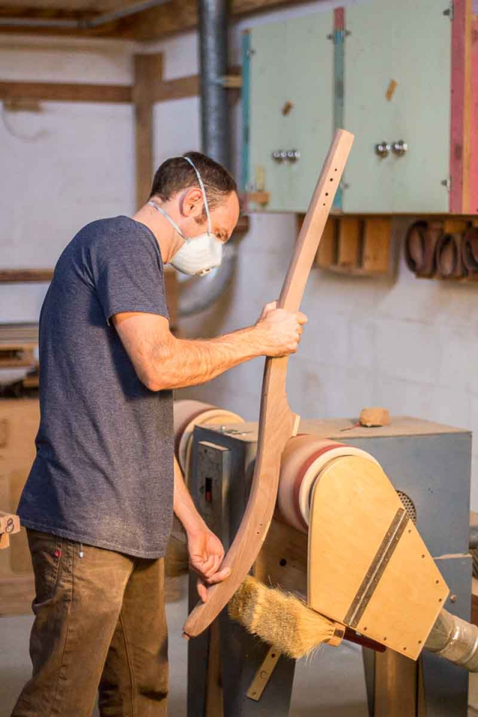 Austin pump sanding rocking chair back legs