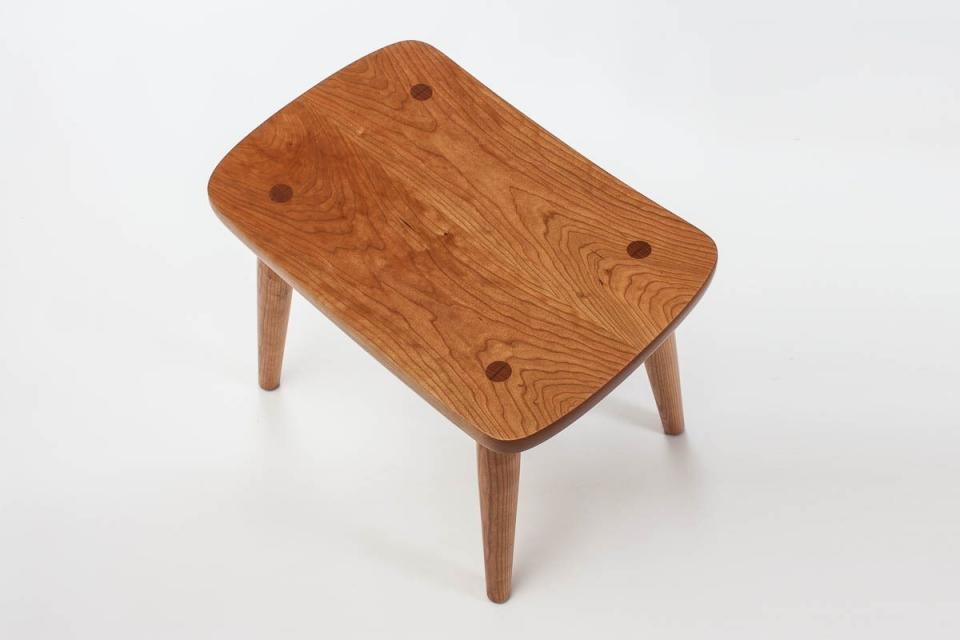 cherry Harris footstool top view