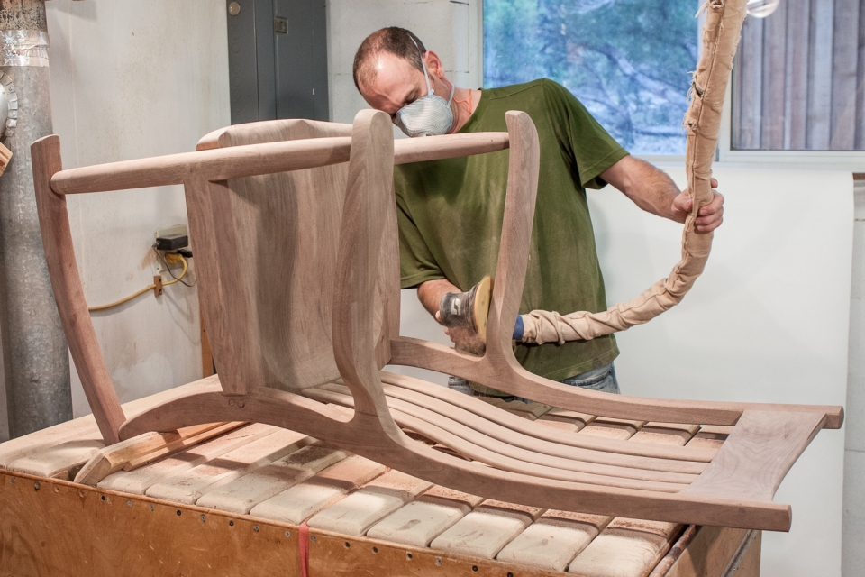 Austin sanding rocking chair, 100 Grit