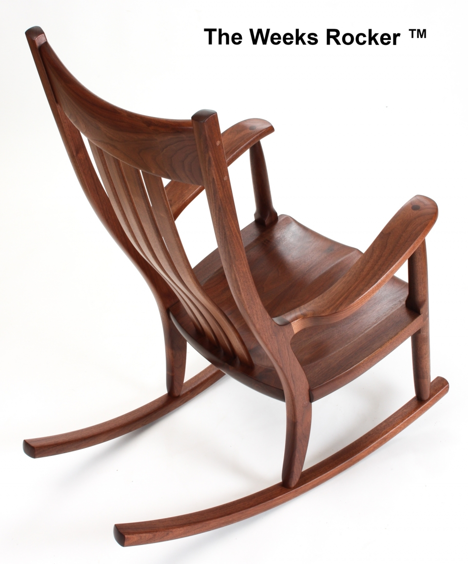 Weeks rocking chair over/angle view