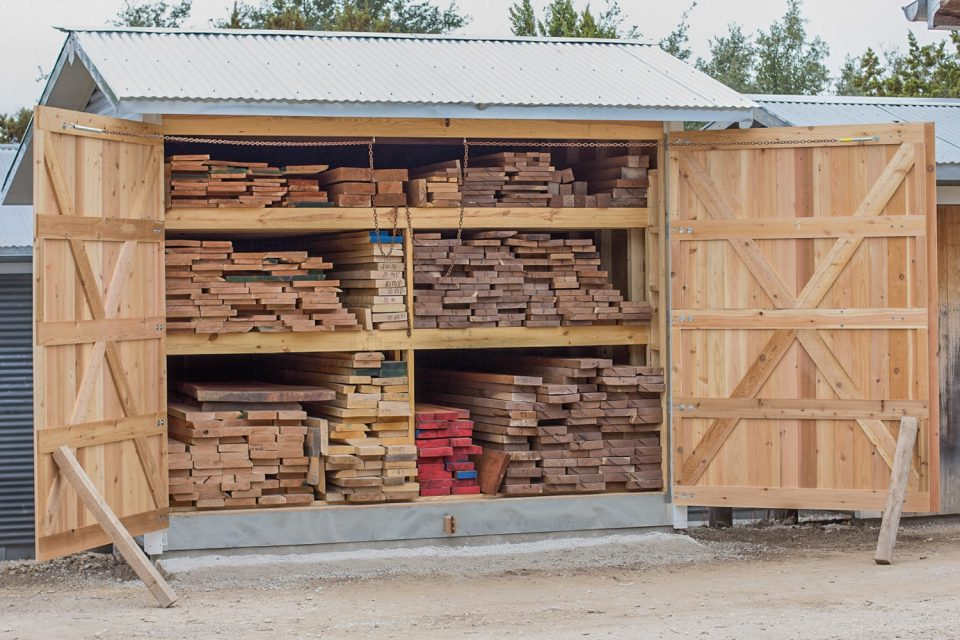 fine hardwood lumber in the shed