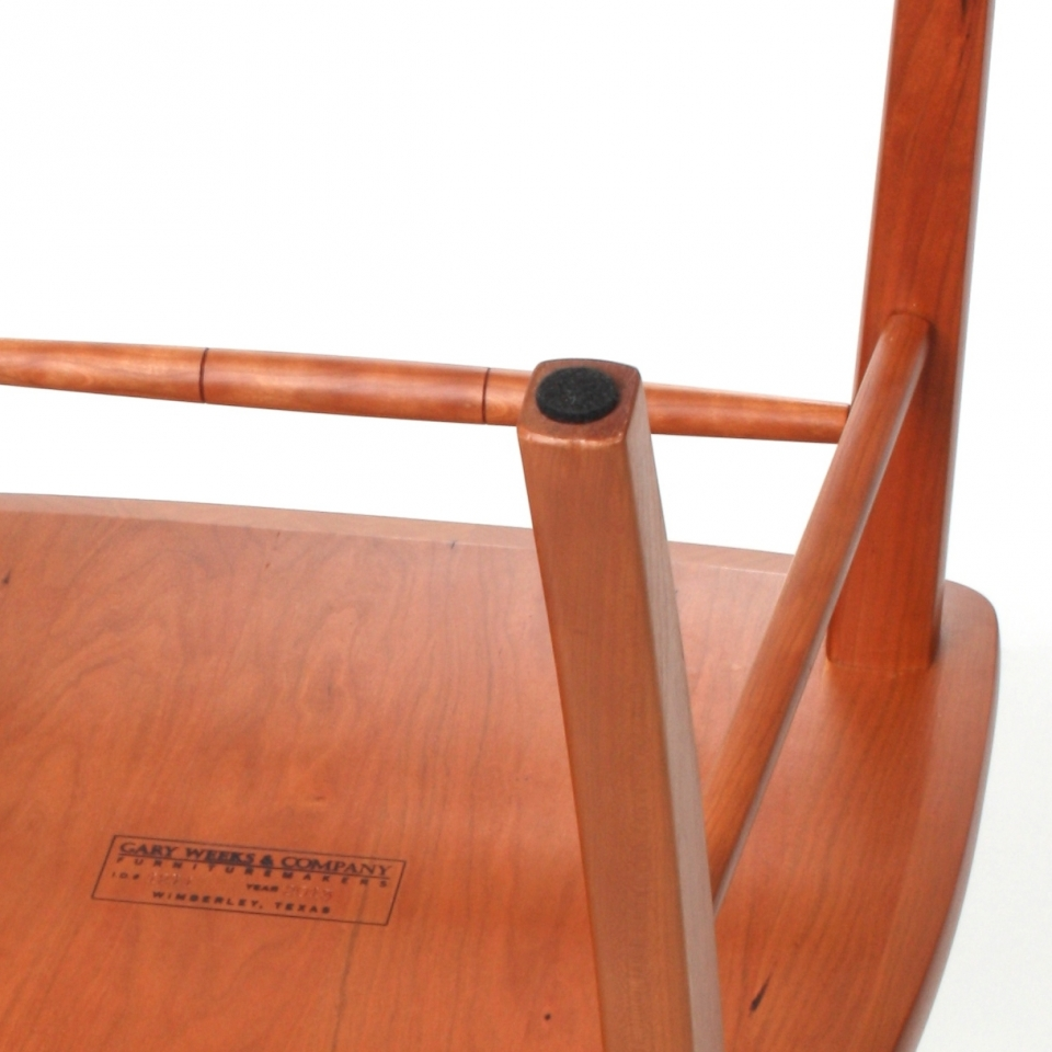 chair leg with felt glide in place