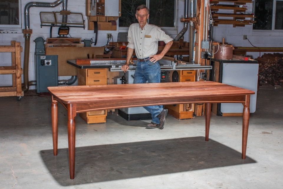 Gary and dining table in the shop