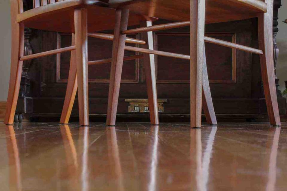 chair legs on floor