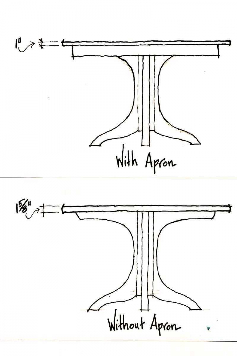 Johnson pedestal table dimension drawings