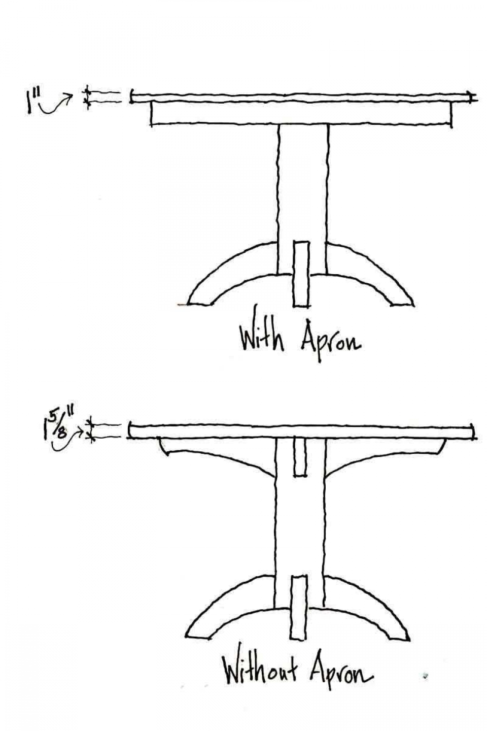 Mendelsohn pedestal table dimension drawings