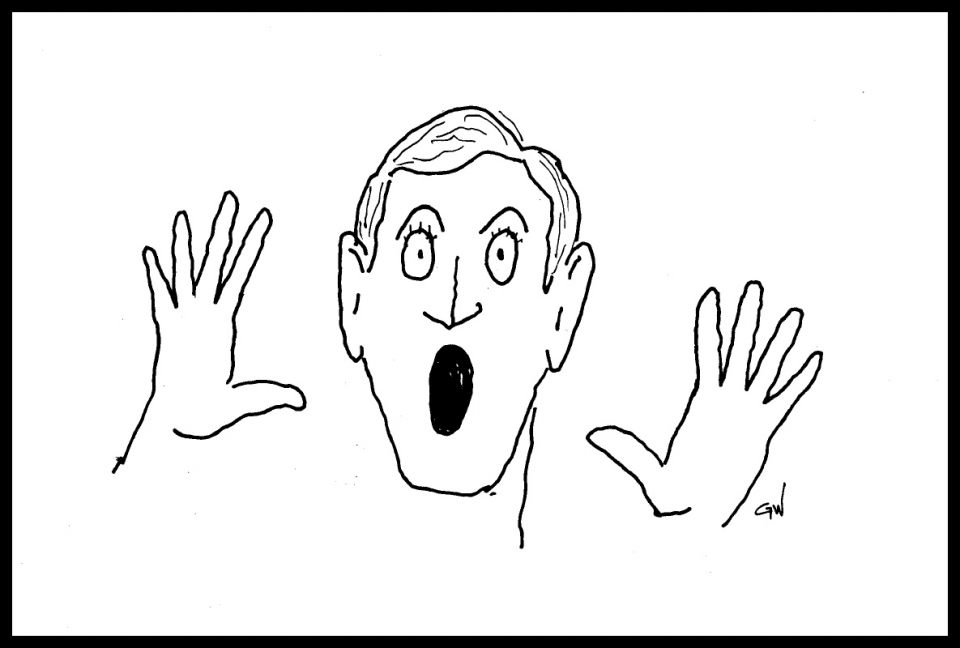 cartoon of surprised face