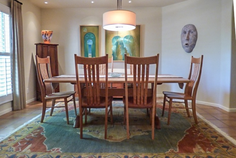 Wilson dining chairs and table in setting 1