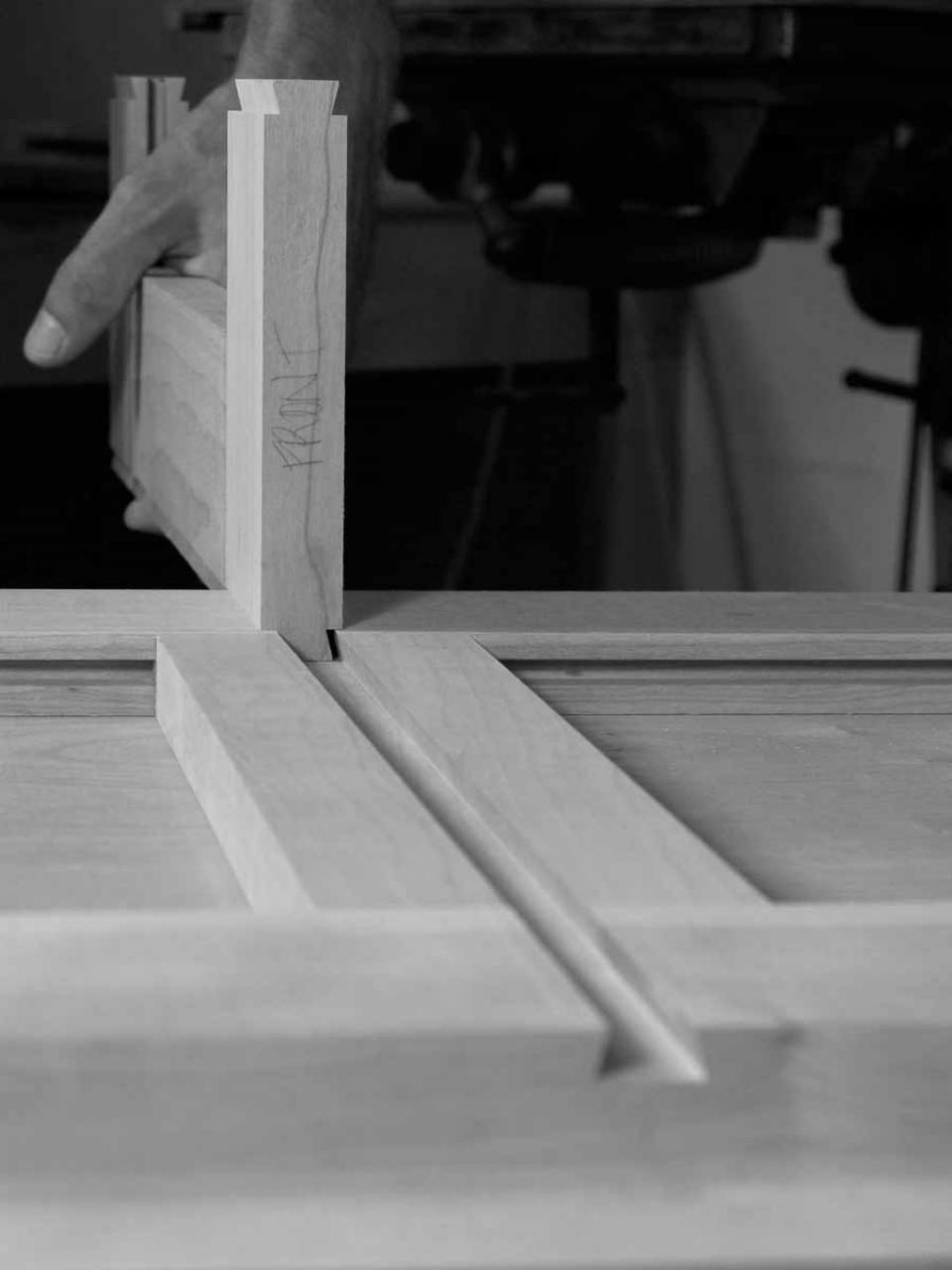 assembling a sliding dovetail joint