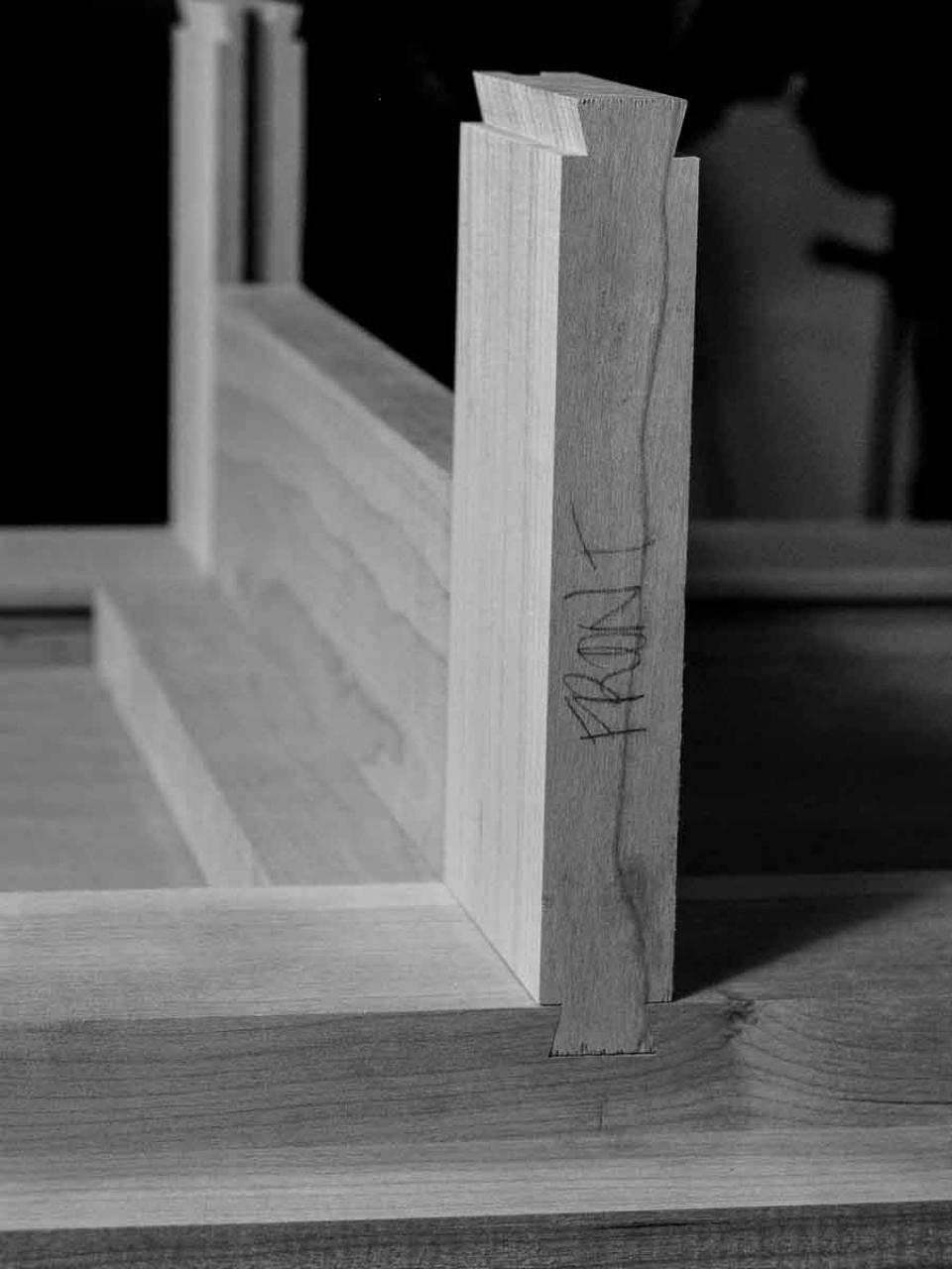 assembling a sliding dovetail joint 4