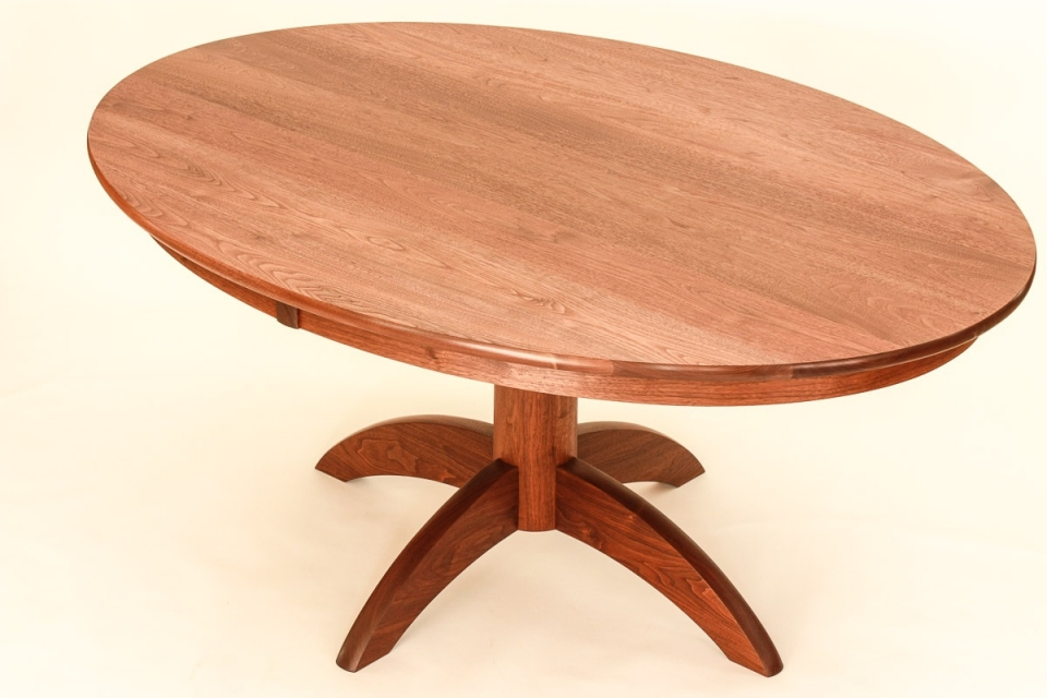 eliptical pedestal table