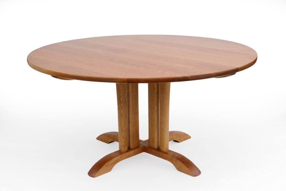 large McCoy pedestal table, studio view