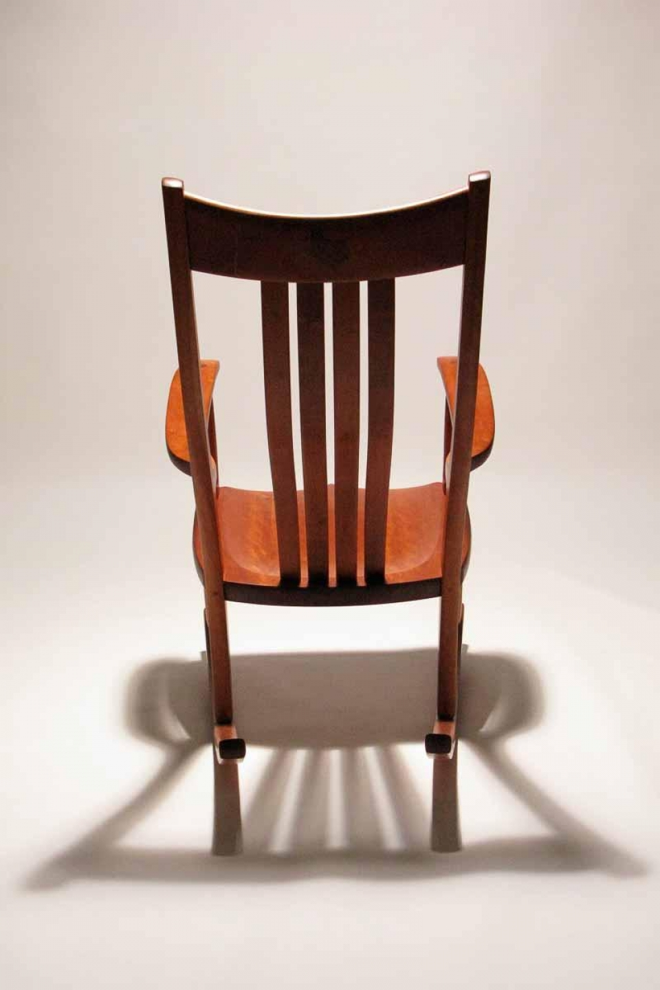 rocking chair showing light and shadow