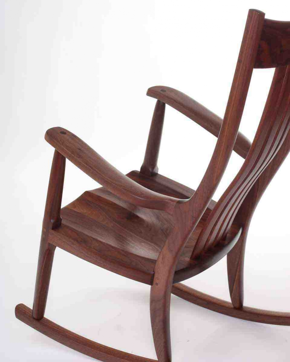 sculptural view of our rocking chair