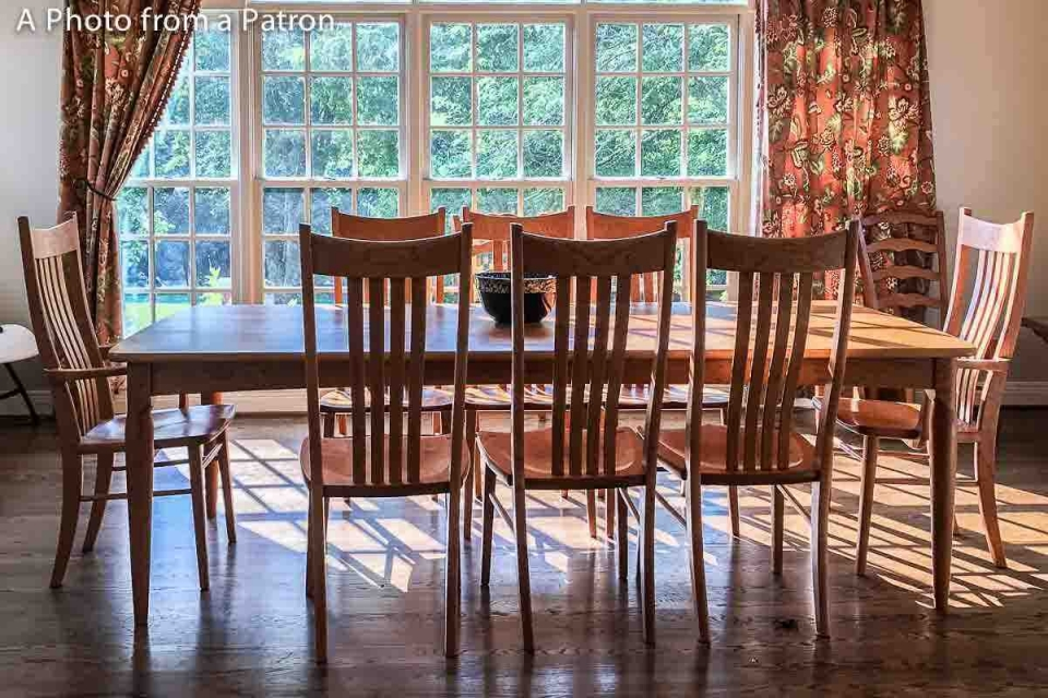 Wilson dining chairs with Paschall dining table
