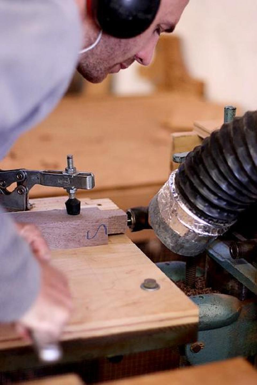 Adjusting tenoning fixture wp