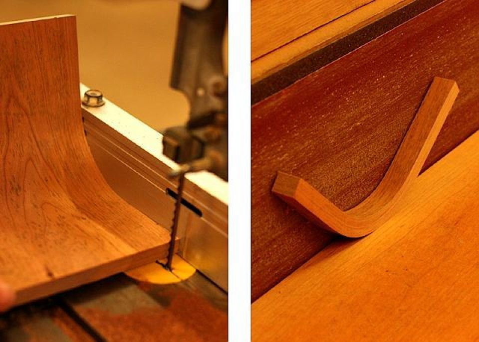 sawing and fitting curved braces