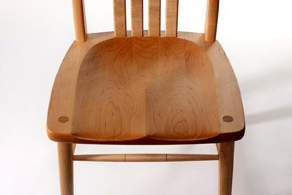 dining chair seat, overhead view