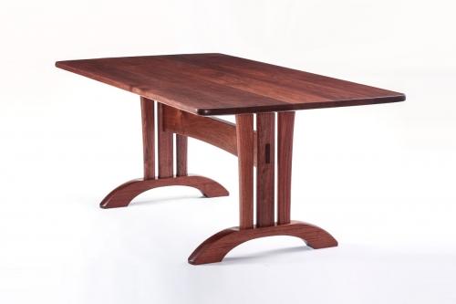 walnut Mitchell trestle table