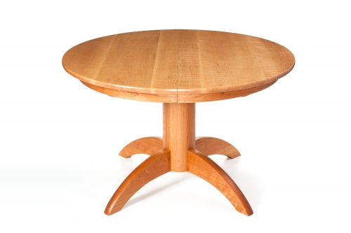 our Mendelsohn pedestal table, studio view