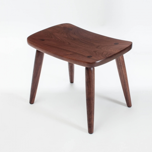 walnut footstool