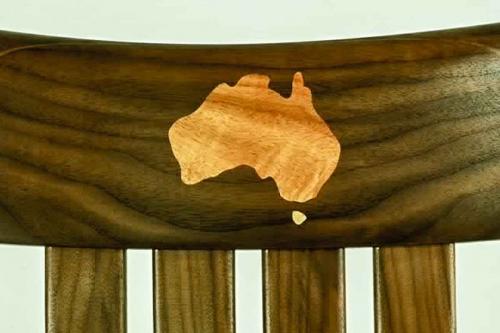 Rocking chair inlay, Australian and Tasmania