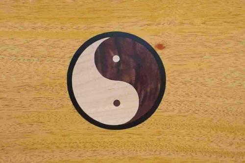 footstool inlay, yin and yang