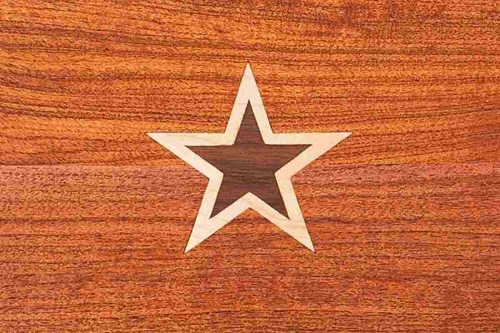 footstool inlay, double star
