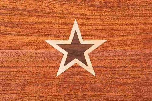 footstool inlay, double star