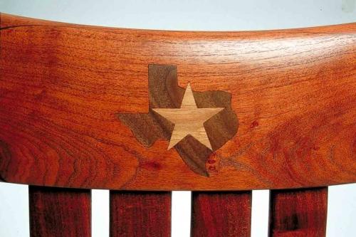 Rocking chair inlay, Texas Star