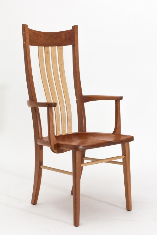 cherry chair with maple splats and spindles