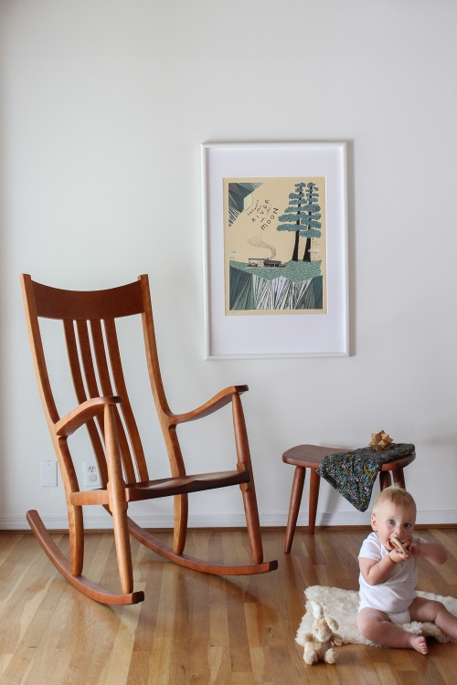 Townes and rocking chair in nursery